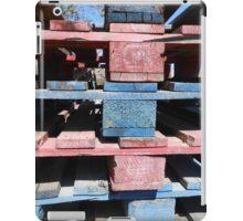 Red, blue, black, urban iPad Case/Skin