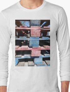 Red, blue, black, urban Long Sleeve T-Shirt