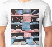 Red, blue, black, urban Unisex T-Shirt
