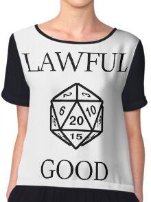 GAMER - Alignment : Lawful good Chiffon Top