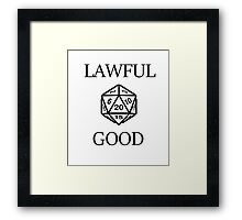 GAMER - Alignment : Lawful good Framed Print