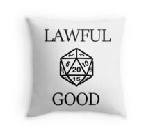 GAMER - Alignment : Lawful good Throw Pillow