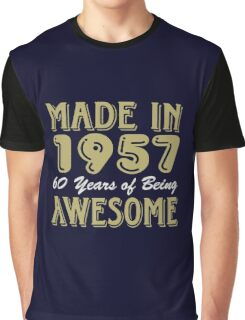 Made in 1957 60 years of being awesome (dark) Graphic T-Shirt