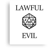 GAMER - Alignment : Lawful evil Canvas Print
