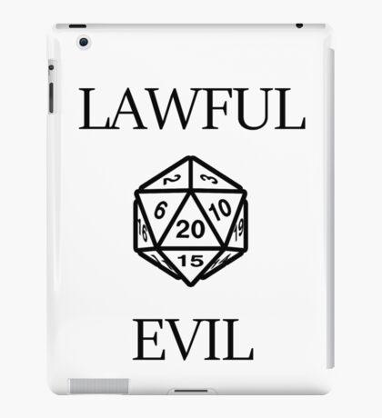 GAMER - Alignment : Lawful evil iPad Case/Skin