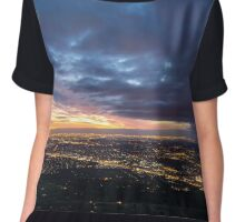 Sunset over Melbourne Chiffon Top