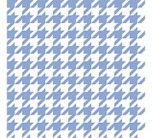 Serenity blue houndstooth pattern print Photographic Print