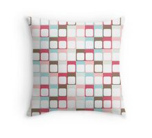 Wall of boxes pattern Throw Pillow