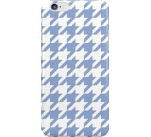 Serenity blue houndstooth pattern print iPhone Case/Skin