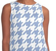 Serenity blue houndstooth pattern print Contrast Tank