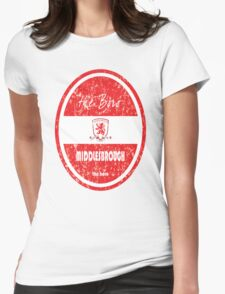 EPL 2016 - Football - Middlesbrough (Distressed) Womens Fitted T-Shirt
