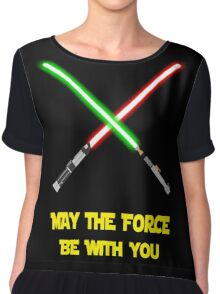 May the force be with you-star wars fanart Chiffon Top