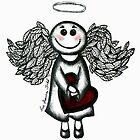 Angel Heart by Lisa Frances Judd~QuirkyHappyArt