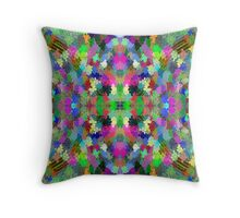 Expressionist Pattern Throw Pillow