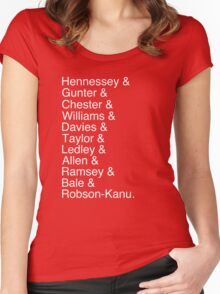 Wales Starting 11 Women's Fitted Scoop T-Shirt