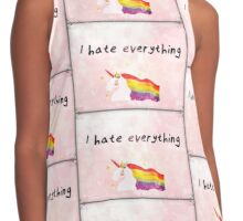 I hate everything  Contrast Tank
