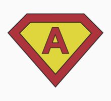 Superman alphabet letter Kids Tee