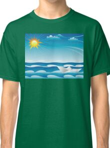 Paper Boat in the Sea Classic T-Shirt