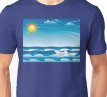 Paper Boat in the Sea Unisex T-Shirt