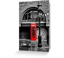 London red phone box  Greeting Card