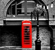 London red phone box  by saramessenger