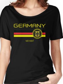Euro 2016 Football - Germany (Away Black) Women's Relaxed Fit T-Shirt