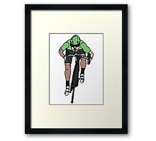 "Mark Cavendish  -  ""Le Maillot Vert"" Framed Print"