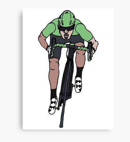 "Mark Cavendish  -  ""Le Maillot Vert"" Canvas Print"