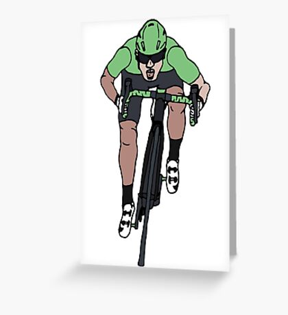 "Mark Cavendish  -  ""Le Maillot Vert"" Greeting Card"
