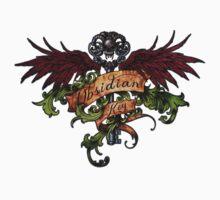 Obsidian Key - Wings, Skull and the Key - Progressive Rock Metal Music - (Clear) Hand Drawn Kids Tee