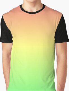 Red to Green Gradient Graphic T-Shirt