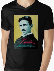 Nikola Tesla Mens V-Neck T-Shirt