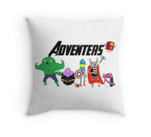 Aventers (Adventure time Avengers) Throw Pillow