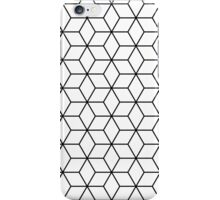 Sacred geometry pattern in black and white iPhone Case/Skin