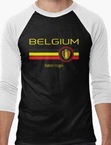 Euro 2016 Football - Belgium (Away Black) Men's Baseball ¾ T-Shirt