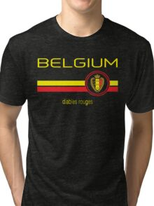Euro 2016 Football - Belgium (Away Black) Tri-blend T-Shirt