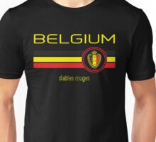Euro 2016 Football - Belgium (Away Black) Unisex T-Shirt