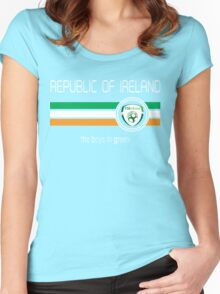 Euro 2016 Football - Republic of Ireland (Home Green) Women's Fitted Scoop T-Shirt