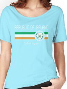 Euro 2016 Football - Republic of Ireland (Home Green) Women's Relaxed Fit T-Shirt