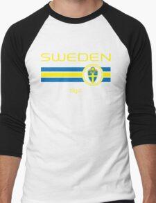 Euro 2016 Football - Sweden (Away Black) Men's Baseball ¾ T-Shirt