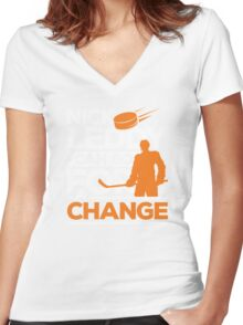 Go For a Change Women's Fitted V-Neck T-Shirt