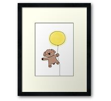 Imagine: Bibo Flying with Balloon Framed Print