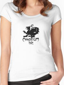 Chaosium Inc. Official T-Shirt (Black Logo) Women's Fitted Scoop T-Shirt