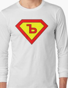 Superman alphabet letter Long Sleeve T-Shirt
