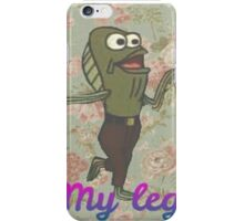 "Floral ""My Leg"" Spongebob iPhone Case/Skin"