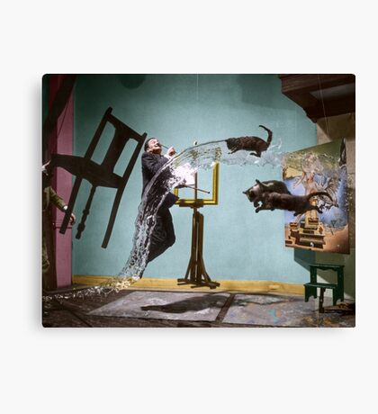 Dali Atomicus - by Philippe Halsman - colored Canvas Print