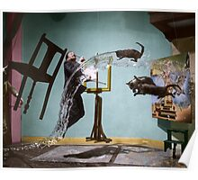 Dali Atomicus - by Philippe Halsman - colored Poster