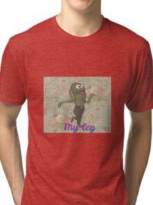 "Floral ""My Leg"" Spongebob Tri-blend T-Shirt"