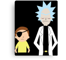 Evil Rick and Morty [PLAIN] Canvas Print