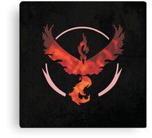 Pokemon Go - Team Valor (flames square) Canvas Print